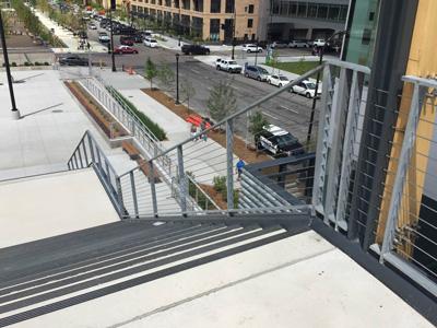 US Bank Bridge Rails